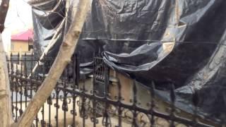 Casa Șciusev se repară fără panou informativ