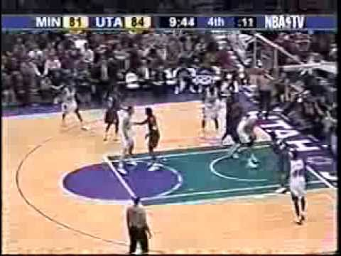 Kevin Garnett vs Karl Malone - Power Forward Battle - 2/17/03