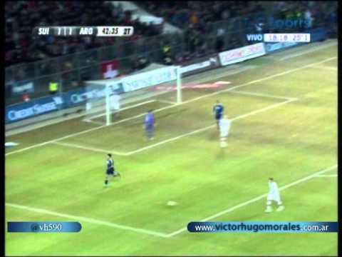 Suiza vs Argentina (1-3) Amistoso Internacional 2012 Los  3 goles de Messi