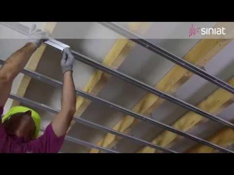 Montaj plafon gips-carton perforat Siniat