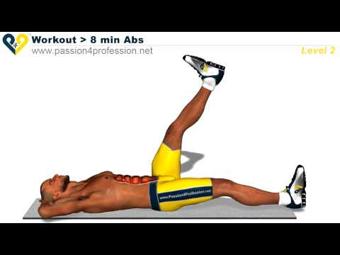 8 Min Abs Workout - Level 2 (Six pack)
