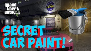 GTA 5 Online SECRET CAR PAINT! Hidden Colors For Cars