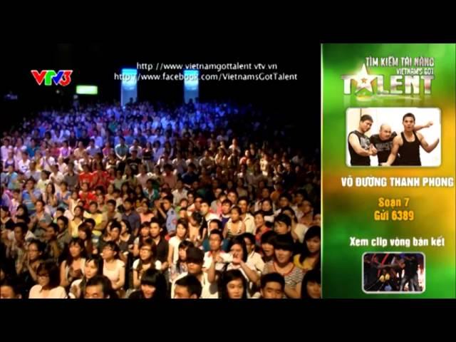 Vietnam's Got Talent 2012 - Chung Kết 1 - Võ Đường Thanh Phong - MS 7