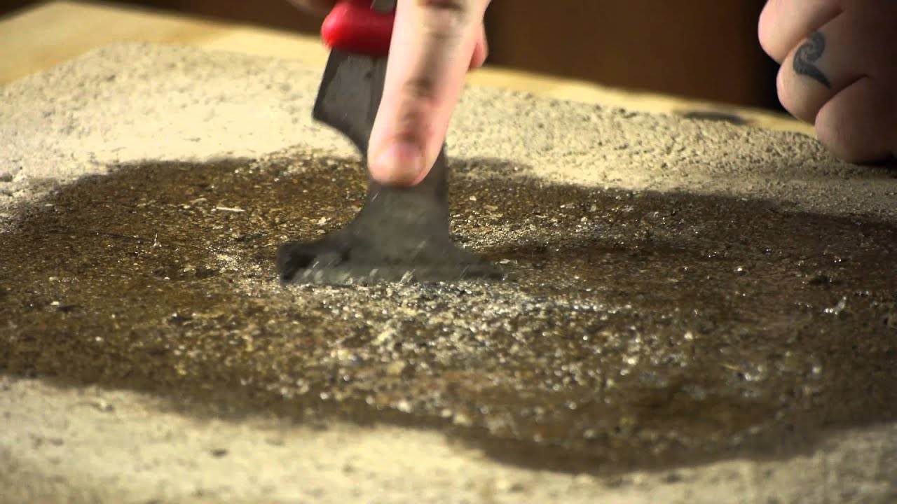 How To Get Adhesive Off Concrete From Linoleum Tiles