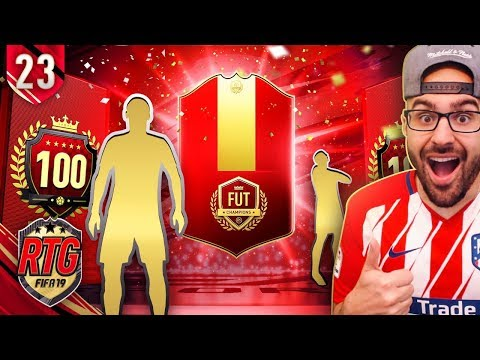 OMG MY TOP 100 FUT CHAMPIONS REWARDS! FIFA 19 Ultimate Team RTG #23