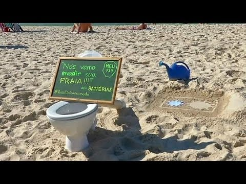 Toilets protest at Brazil beach demands basic sanitation - no comment
