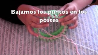 Cómo Tejer Una Flor En Un Telar Redondo