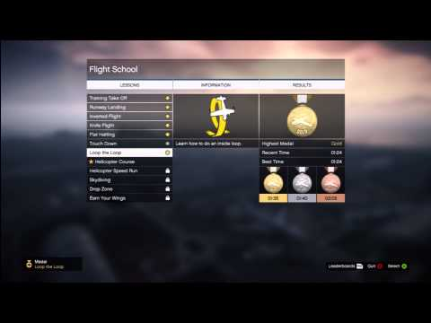 GTA: V Flight School HD Gameplay