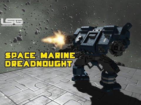 space engineers space marine dreadnought warhammer 40k