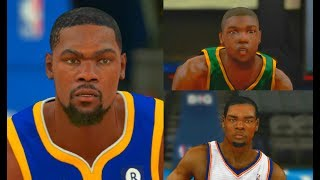 Kevin Durant from NBA 2K8 to NBA 2K18! #GSW #PS4