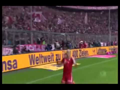 Robben fail celebration vs Braunschweig