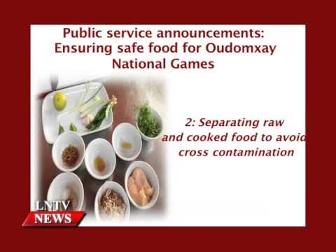 Lao NEWS on LNTV: Public service announcements: Ensuring safe food.16/12/2014