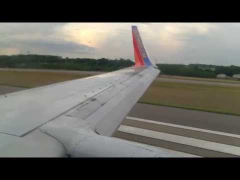 Southwest Airlines Boeing 737 700 WL taking off from Nashville International Airport to Houston