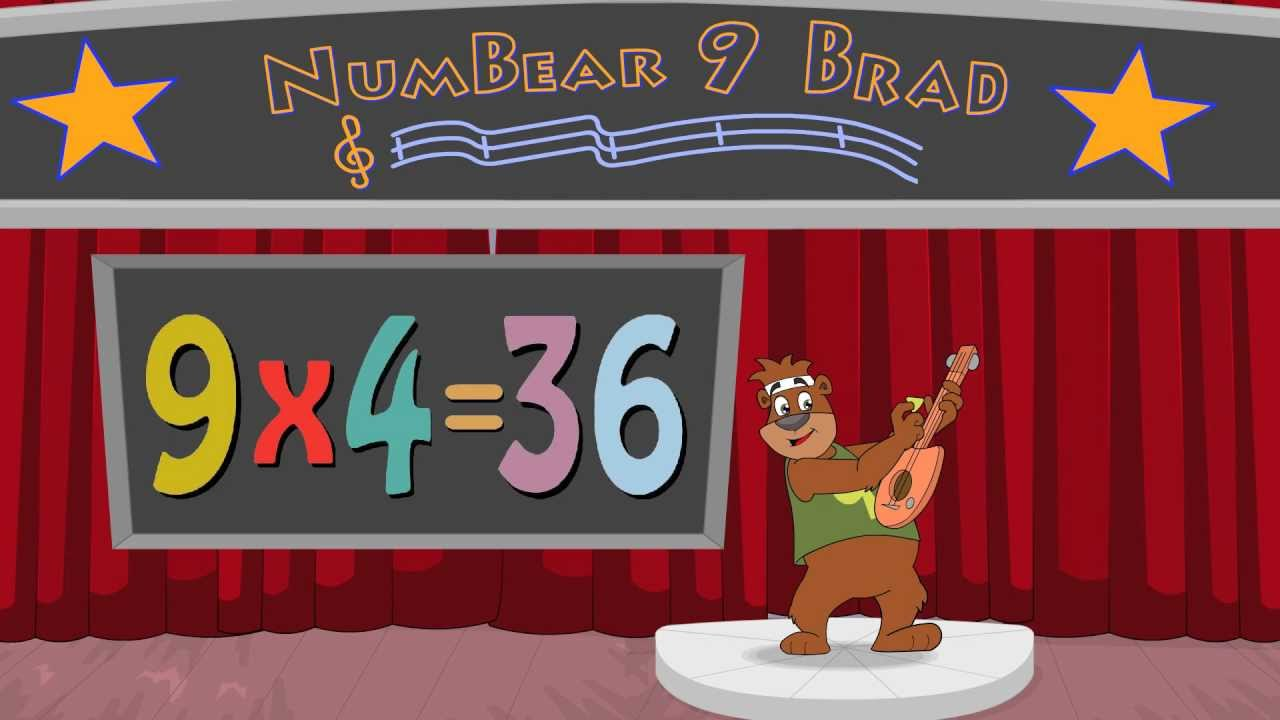 9 times table multiplication song with numbear 9 brad for Table 6 song