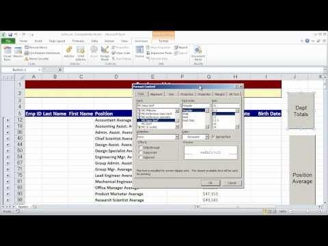 Creating a simple macro in Excel 2010 - Part 2