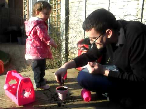 Evie's First Gardening Lesson