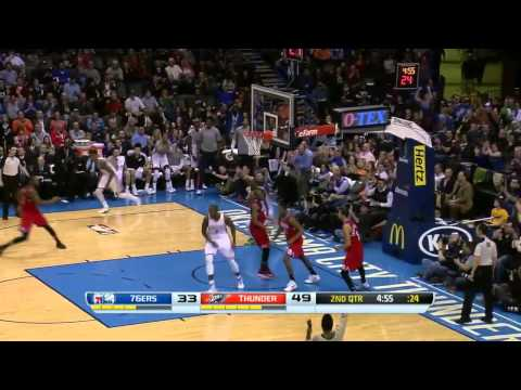 Philadelphia 76ers vs Oklahoma City Thunder | March 4, 2014 | NBA 2013-14 Season