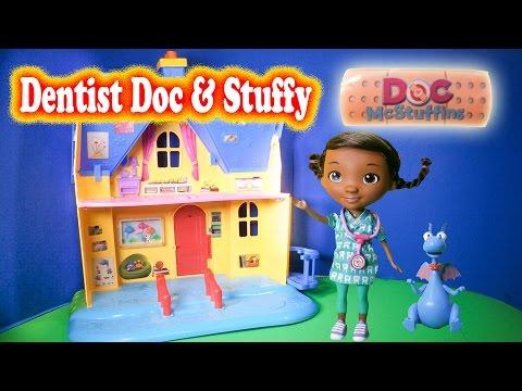 DOC MCSTUFFINS Dentist Doc and Stuffy Disney Junior Doc McStuffins YouTube Toy Review