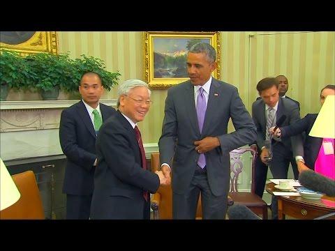 TBT Đảng CSVN Nguyễn Phú Trọng đối thoại với TT Obama về thương mại, biển Đông, nhân quyền