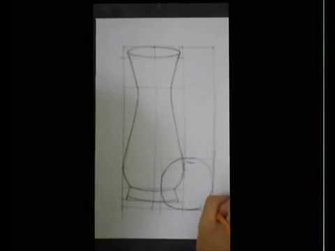 vẽ lọ hoa và quả  - lớp 7 (  draw  vases and fruit)
