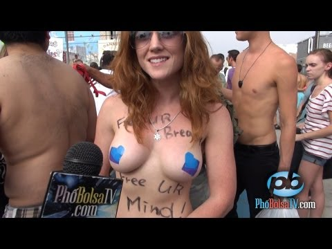 Interview with Go Topless 2013 participant Rachel Jessee, Venice Beach, California