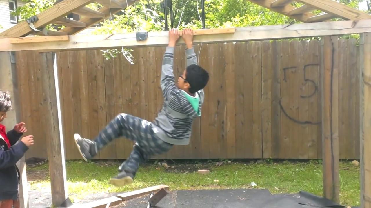Backyard Ninja Warrior Design : My Ninja warrior course  YouTube
