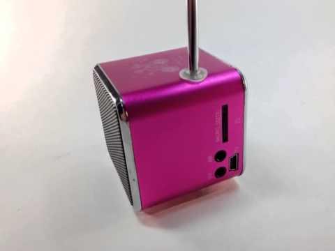 Caixa de som com MP3, USB e cartão de memória
