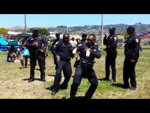 Calif. police officers dance to 'The Wobble'