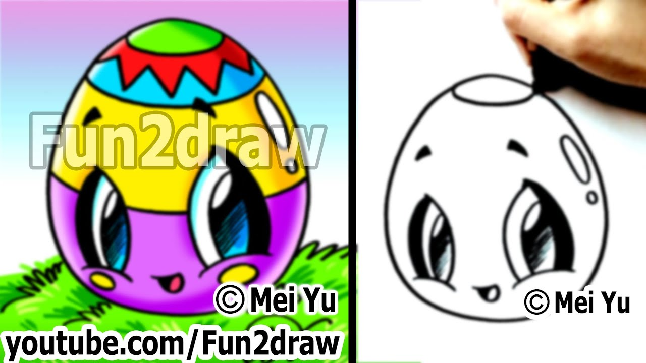 Kawaii easy cute things to draw for beginners easter for Fun and easy things to draw