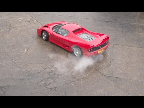 Ferrari F50 in motion - High speed camera