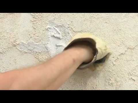 How To Repair Cracks And Holes In Stucco Youtube