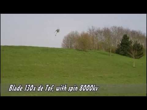 Blade 130x de Tof, with spin 8000kv, 31/03/2014