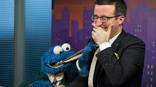 John Oliver and Cookie Monster: Word News Anchor Out-Takes