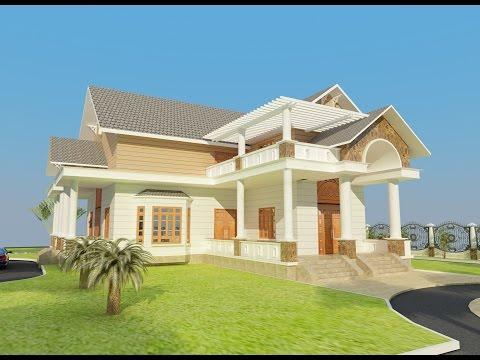 Tư vấn thiết kế nhà phố đẹp nhà cấp 4 đẹp -  biệt thự mini villa mái thái 1 trệt 1 lầu ở Phan Thiết
