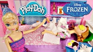 Princess Anna's Sick! Disney's Frozen Barbie Elsa Cooks