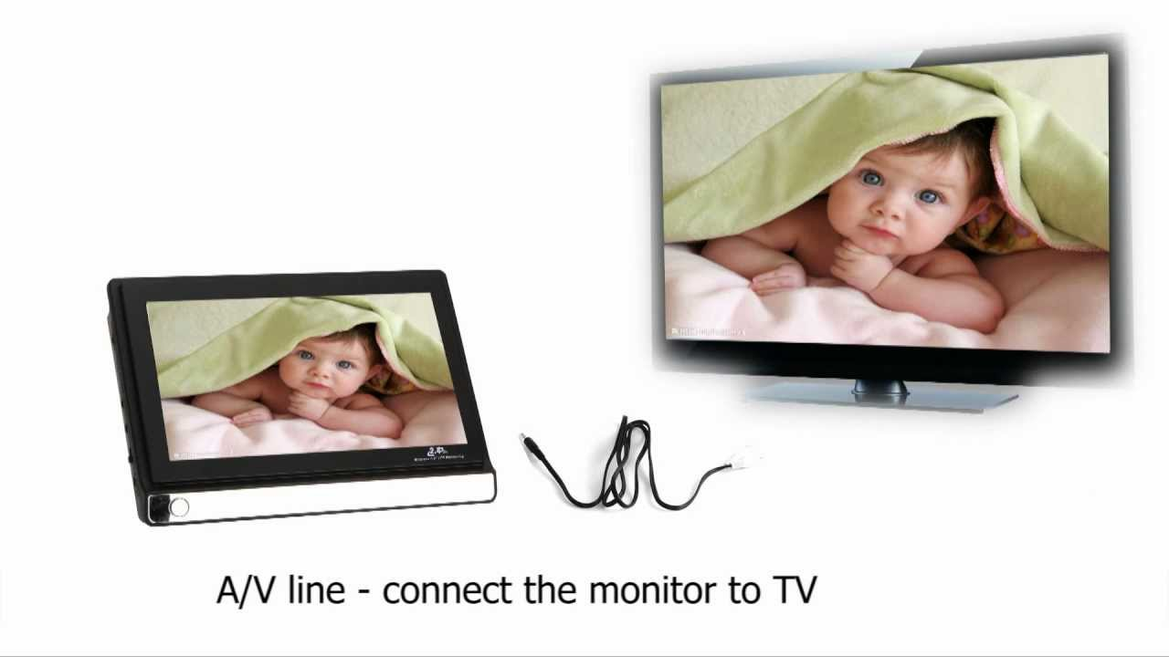 2 4ghz wireless baby monitor with one camera 7 tft lcd youtube. Black Bedroom Furniture Sets. Home Design Ideas