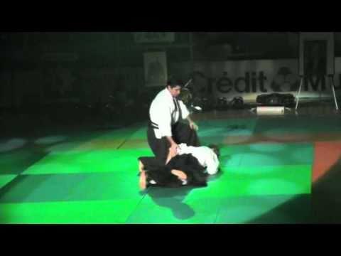 Aïkido, quelques techniques sur saisies des deux poignets par l'arrière