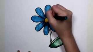 ללמוד איך לצייר פרח