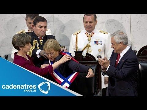 Segunda toma de posesión de Michelle Bachelet; EPN fue testigo del evento