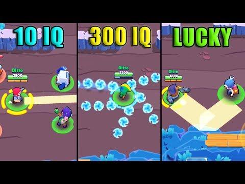 10 IQ vs 300 IQ vs LUCKY - NEW Brawl Stars Funny Moments #64