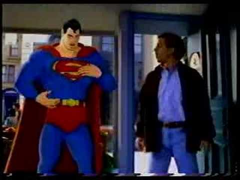 American Express card commercial with Superman and Seinfeld, funny superman ad
