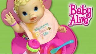 Baby Alive Kicks N Cuddles Newborn Doll Morning Routine