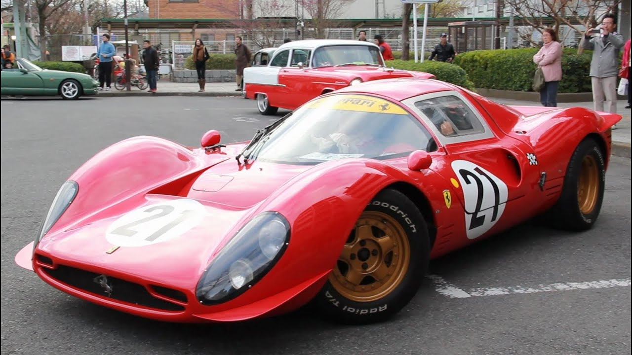 ferrari 330 p4 replica at yabo tenmangu youtube. Black Bedroom Furniture Sets. Home Design Ideas
