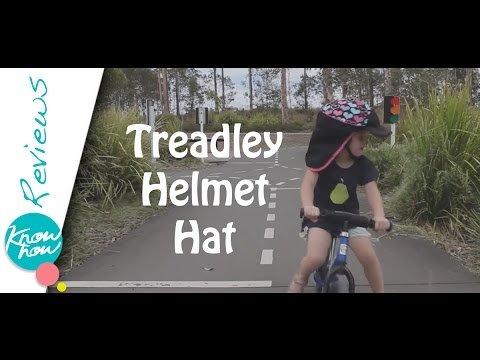 Treadley Helmet Hat Review, Sun Protected Cycling For Children