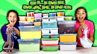 Mixing All My Slimes! DIY Giant Slime Smoothie