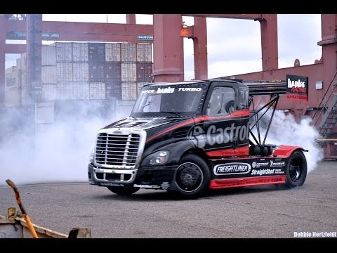 SIZE MATTERS 2 - Mike Ryan - INSANE Gymkhana Style Semi Truck Drifting and JUMP