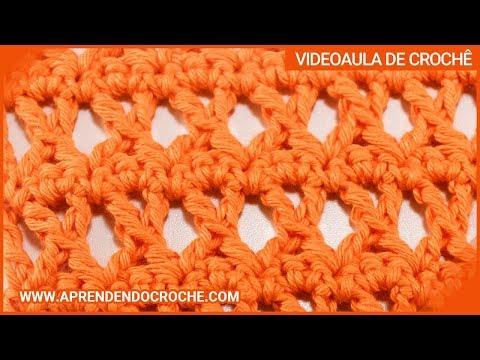 Ponto X no croche - Tipos de Pontos no Crochê