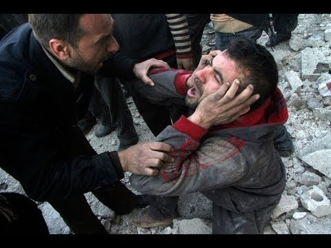 MUST SEE: Syrian civilians in Aleppo hit by second air strike