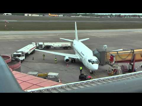 AVIOGENEX B737-200 YU-ANP - Landing + engine start-up + take off @ Berlin-Tegel (short version)