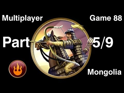 Civilization 5 Multiplayer 88: Mongolia [5/9] ( BNW 6 Player Free For All) Gameplay/Commentary